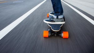 Boosted Skateboard Riding
